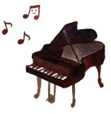 ピアノ音符イラスト
