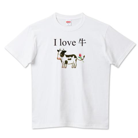 牛イラストTシャツ