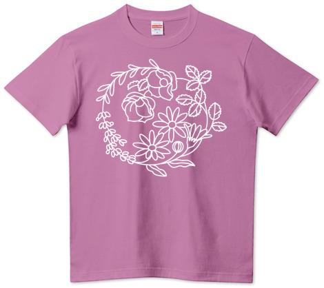 ラベンダー色Tシャツ